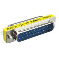 Offex Serial Mini Gender Changer / Coupler, DB25 Male to DB25 Male