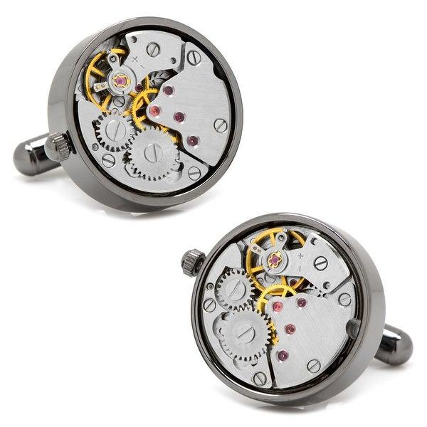 Gunmetal Watch Movement Cufflinks