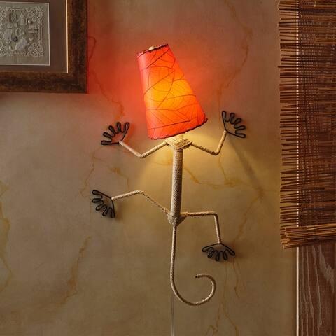 Handmade Gecko Wall Lamp - 16 x 7 x 24