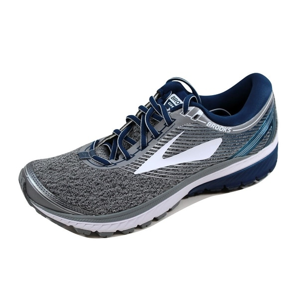 Brooks Men's Ghost 10 Silver/Blue-White 110257 1D 013