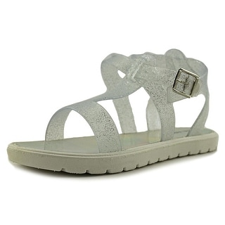Nine West Heyleigh Youth Open-Toe Synthetic Silver Slingback Sandal