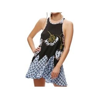 Intimately Free People Womens Slip Dress Printed Sleeveless