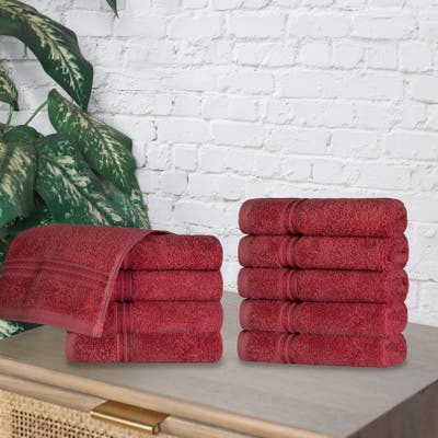 Superior Absorbent Egyptian Cotton 600 GSM Washcloth (Set of 10) - N/A