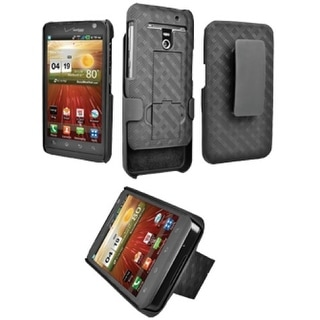 Verizon Rubberized Shell Holster for LG Revolution VS910 with Kickstand (Black)