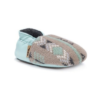 MUK LUKS Kids' Baby Soft Shoes-Winter Green Mary Jane Flat - 12-18 months m us infant