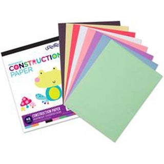 "48 Sheets; 8 Assorted Colors - U-Create Construction Paper Pad 9""X12"""