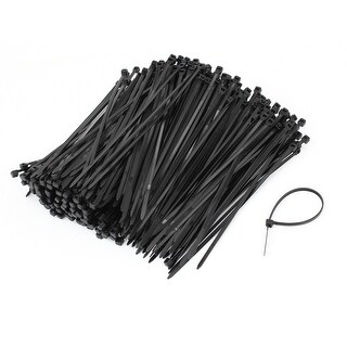 "Unique Bargains Household Black Nylon Fastener Packaging Electrical Cable Tie 5.7"" Long x 500"