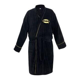 DC Comics Batman Men's Bathrobe - Black