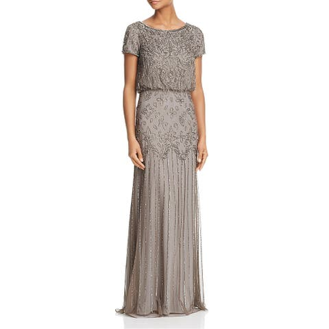 Adrianna Papell Womens Formal Dress Chiffon Embellished