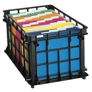 Oxford 038079 Pendaflex Oxford File Crate, Black