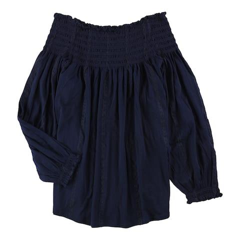 Ralph Lauren Womens Smocked Basic T-Shirt - Large
