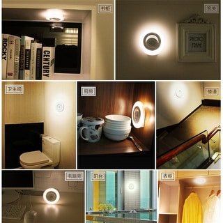 8 LED Closet Light PIR Motion Sensor Night Light