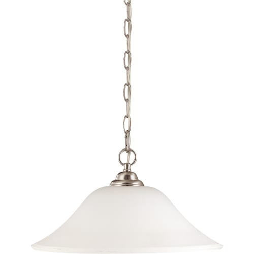 "Nuvo Lighting 60/1909 Dupont Single Light 16"" Wide Pendant with Satin White Glass Shade"