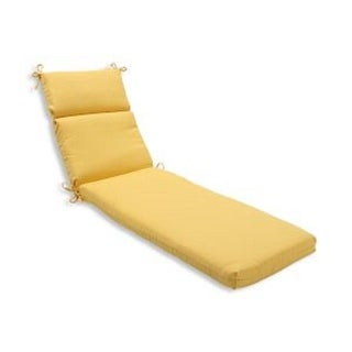 "72.5"" Yellow Gold Outdoor Patio Chaise Lounge Cushion"