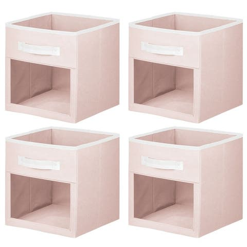 mDesign Kids Fabric Storage Organizer Cube - 4 Pack - 10.5 X 10.5