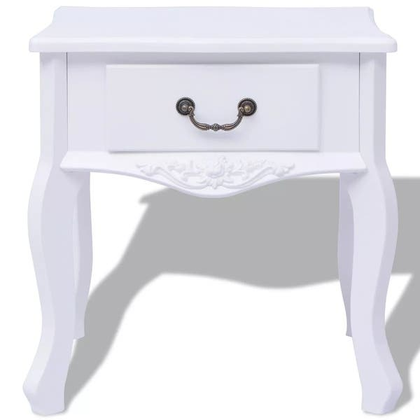 Vidaxl Bedside Cabinets 2 Pcs Mdf White Free Shipping