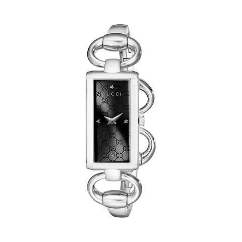 Gucci Women's YA119506 'Tornabuoni' Stainless Steel Watch - Black