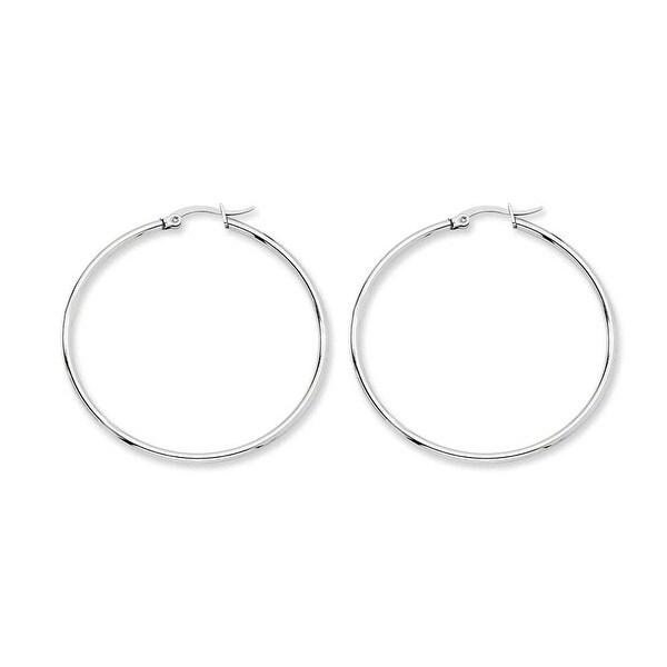 Chisel Stainless Steel 48mm Diameter Hoop Earrings