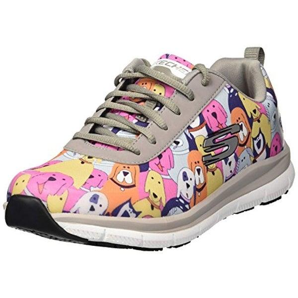 Skechers Women's Comfort Flex Sr Hc Pro Health Care Professional Shoe,GrayMulti,9 Medium Us
