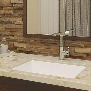 "DecoLav 1482 Lilli 17-1/2"" Rectangular Undermount Vitreous China Lavatory Sink with Overflow - Ceramic White - N/A"