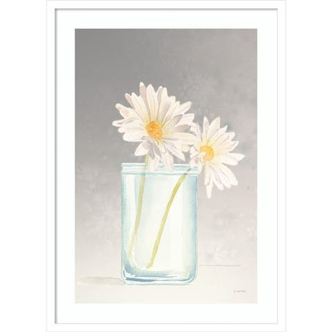 Tranquil Blossoms IV (Daisy) by James Wiens Framed Wall Art Print