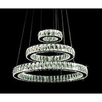 Crystal Elipse 3 Ring Chandelier LED Modern / Contemporary - Chrome