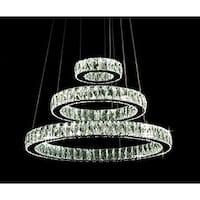 Modern Crystal Elipse 3 Ring LED Chandelier