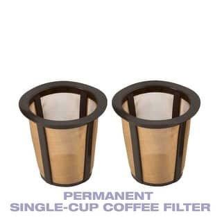 GoldTone Single Cup Reusable Coffee Filters Only for Keurig Style Brewers, 2 Pack-Larger Filter Holds 33% More Coffee|https://ak1.ostkcdn.com/images/products/is/images/direct/5396ee3fe27e0023f365514ebf6c46020c8191f2/GoldTone-Single-Cup-Reusable-Coffee-Filters-Only-for-Keurig-Style-Brewers%2C-2-Pack-Larger-Filter-Holds-33%25-More-Coffee.jpg?impolicy=medium