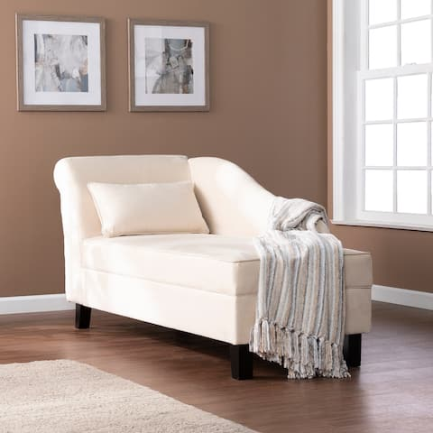 Copper Grove Avery Transitional Beige Fabric Chaise Lounge