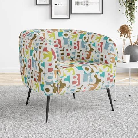 Copper Grove Cavadias Button-Tufted Upholstered Barrel Chair