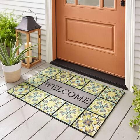Mohawk Home Doorscapes Welcome Tiles Door Mat