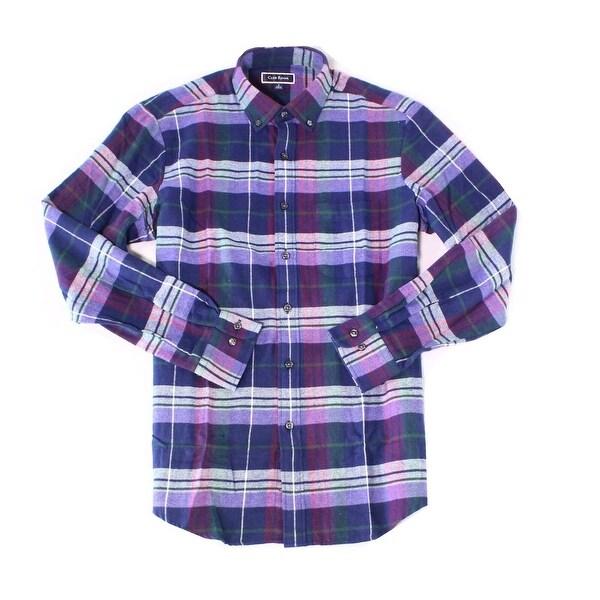 Club Room Mens Buffalo Flannel Shirt