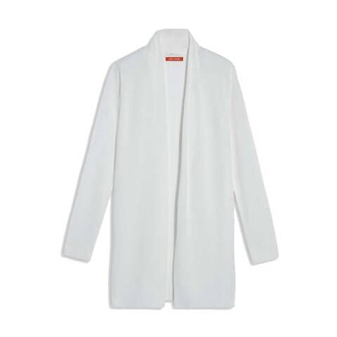 Joe Fresh Womens Sweater Size Medium M White Ivory Knit Cardigan Cotton