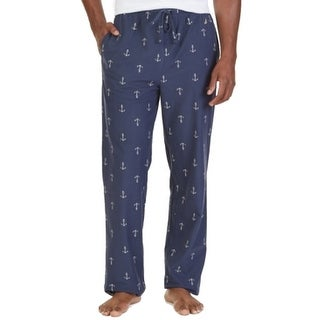 Nautica NEW Blue Mens Size Large L Anchor Print Lounge Pants Sleepwear