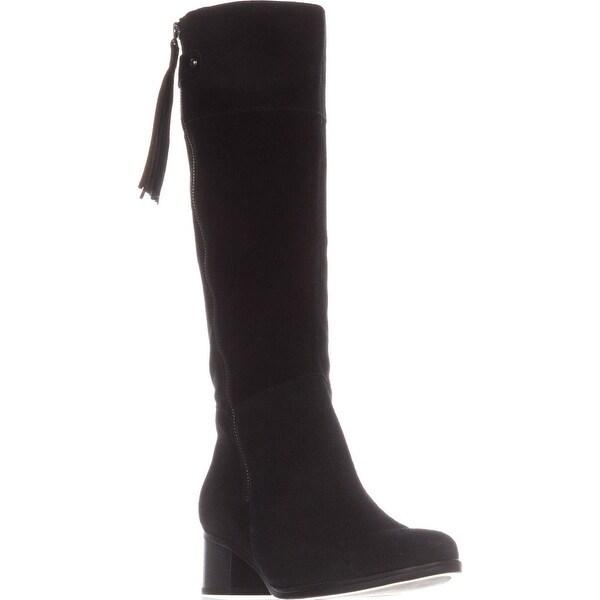 naturalizer Demi Riding Boots, Black Suede
