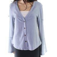 Fashion on Earth Blue Women's Size Large L Cardigan Sweater