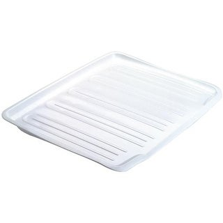 Rubbermaid Home Large White Drainer Tray FG1182MAWHT Unit: EACH