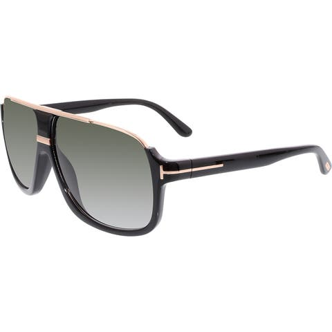 25fdb5d0471 Tom Ford Men s Gradient Elliot FT0335-01P-60 Grey Aviator Sunglasses