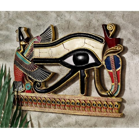 Design Toscano Egyptian Eye of Horus Wall Sculpture