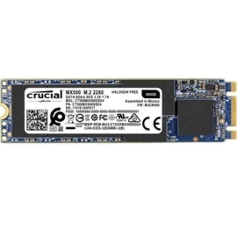 Crucial SSD CT500MX500SSD4 MX500 500GB M.2 2280 SATA 3.0 Retail