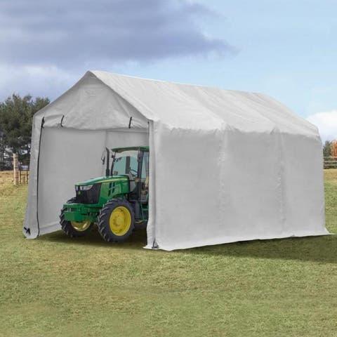 Zenova 10x17 FT Heavy Duty Enclosed Carport Canopy with Sidewalls Waterproof Garage Car Shelter Storage shed