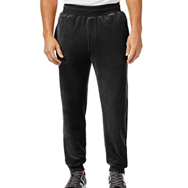 Shop Sean John New Solid Deep Black Mens Size 3xl Velour Track Pants Free Shipping On Orders Over 45 Overstock 19762205