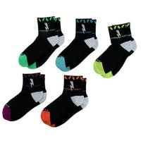 Men Cycling Running Jogging Exercise Sport Ankle Socks Assorted Color 5 Pairs