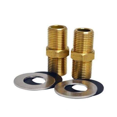 "Whitehaus 2"" Brass Nipple for Whitehaus Utility Faucet Installation - Brass"