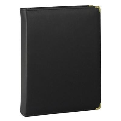 Samsill Classic Zipper Ring Binder - 1.5-Inch, Black (15250)