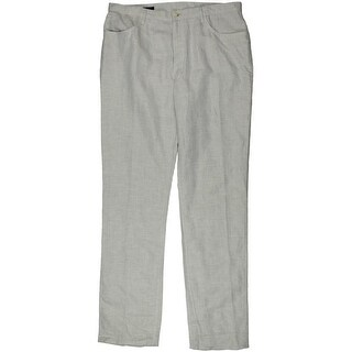 Perry Ellis Mens Linen Blend Flat Front Pants