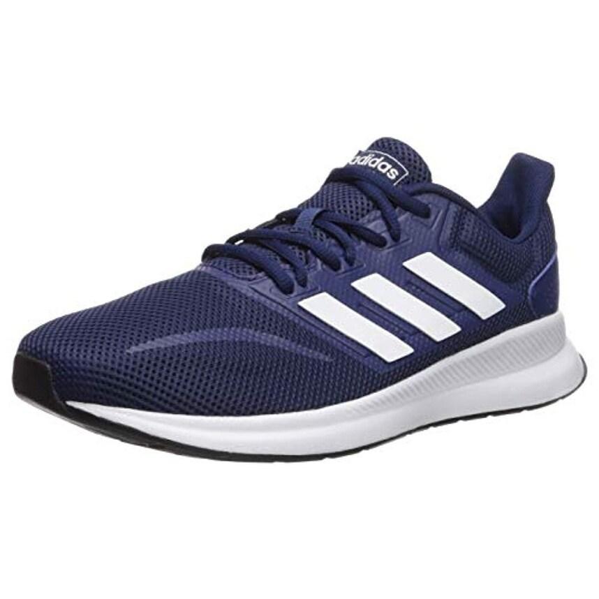 adidas Men's Falcon, Dark BlueWhiteBlack 11.5 M US
