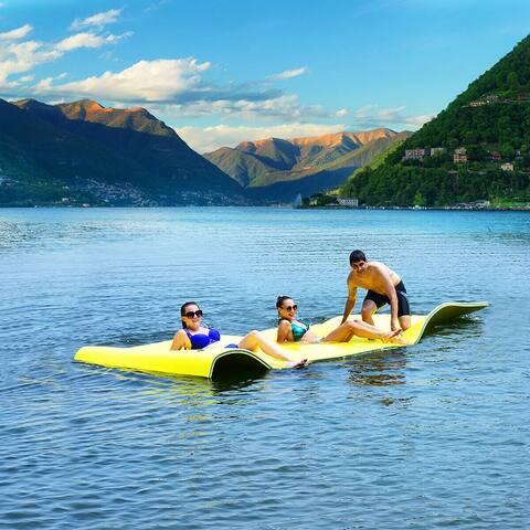 3 Layer Floating Water Pad Foam Mat Water Recreation Relaxing 9' x 6'