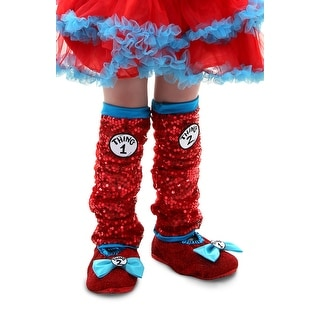 Dr. Seuss Thing 1 & 2 Sequin Costume Leg Warmers