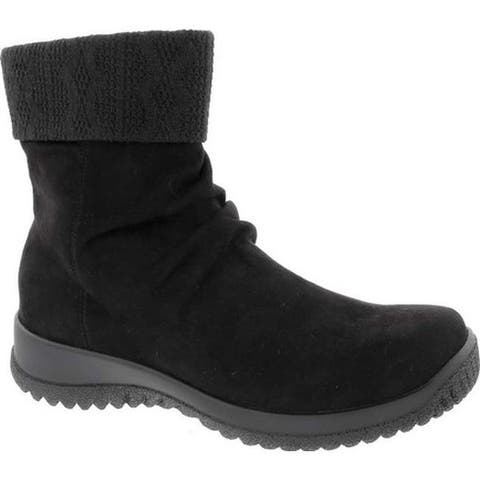 Drew Women's Kalm Slouch Ankle Boot Black Microsuede